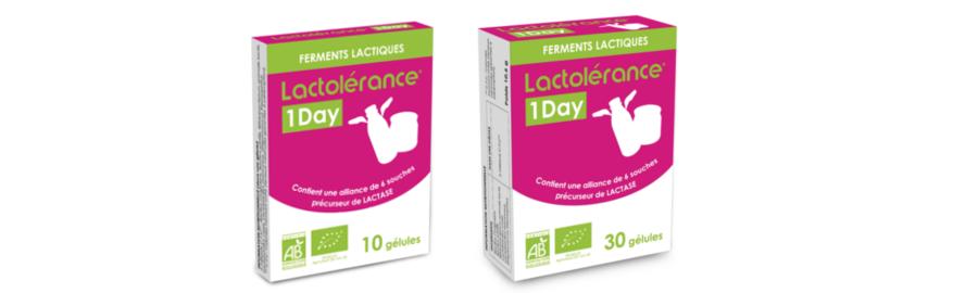 Lactolérance 1 day