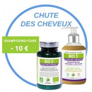 Soin Complet Bio 5 Anti-Chute : Shampoing Cosmétique bio + Cure bio