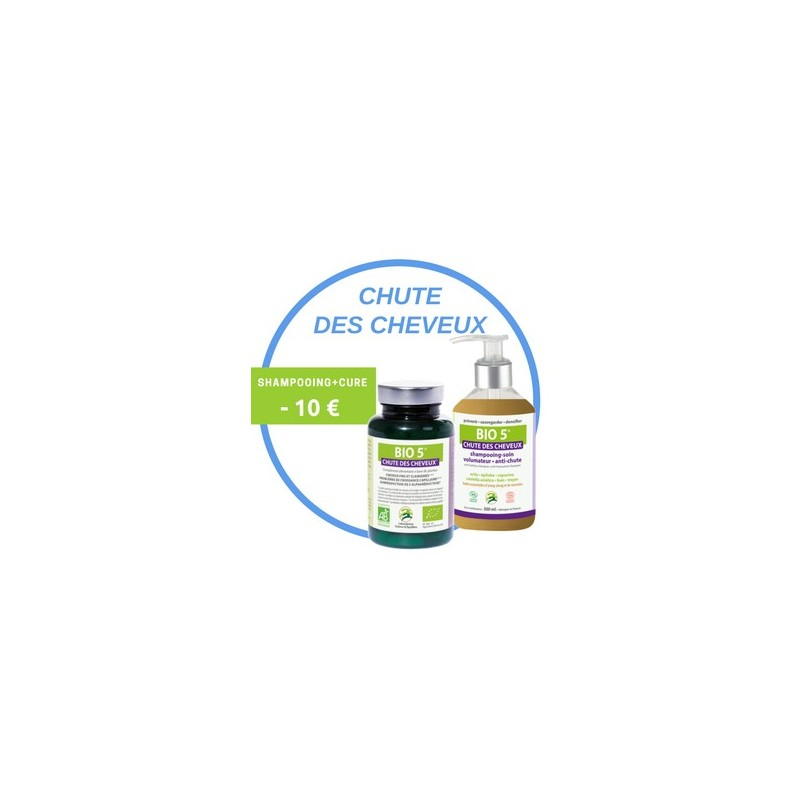 Soin Complet Bio 5 Anti-Chute : Shampoing + Cure
