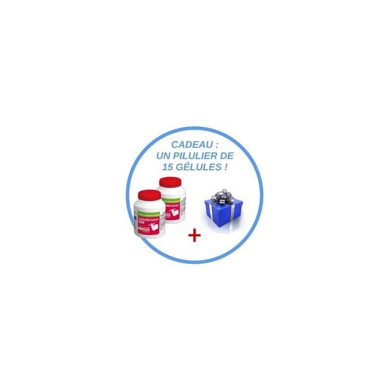 Offre spéciale : 2 x Eco-format Lactolérance 9000 + cadeau : 1 pilulier de 15 gélules