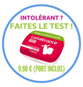 Test intolérance au lactose