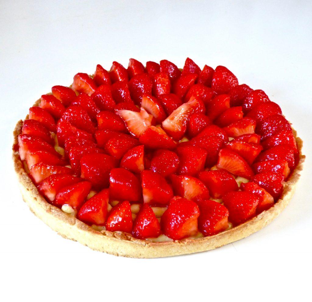 tarte fraise sans lactose
