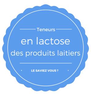 Connaissez-vous la teneur en lactose des produits laitiers ?