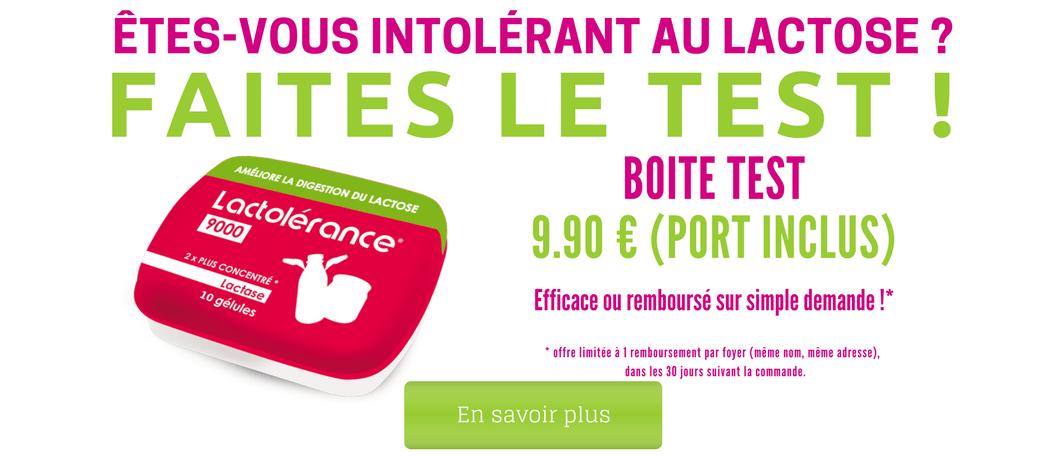 Test d'intolérance au lactose